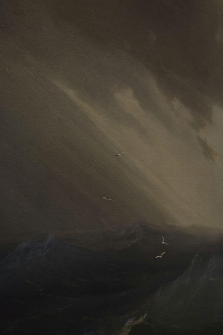 Aivazovsky Sea Beautiful Classic Textured  Picture классика Айвазовский шторм лучисолнца Sunlight Storm Cloud Storm