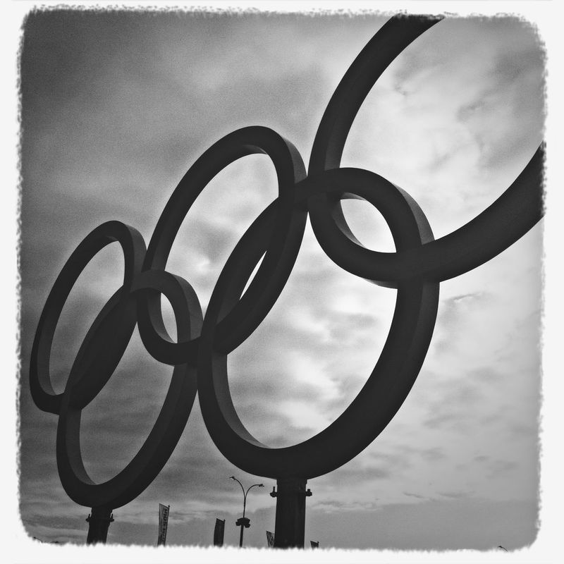 Hallo from Olympic park! Great Performance Black And White