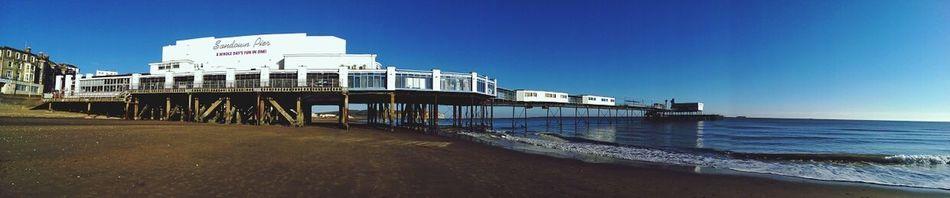 Sandown Beach Pier Panorama Enjoying Life