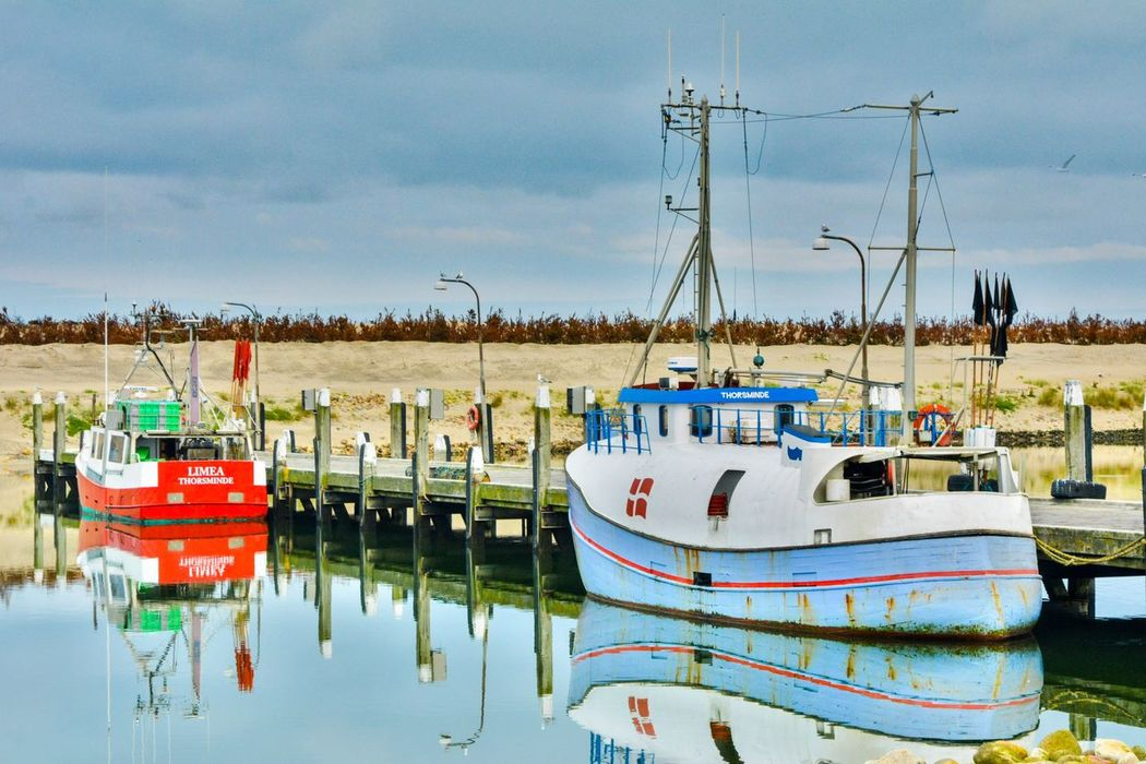and then there were two little boats Boat Denmark Danmark Visitdenmark Reflection Roadtrip Relaxing Taking Photos Hello World Check This Out The Essence Of Summer FortBhullar Morning Blue