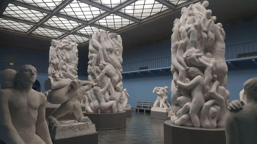The Vigeland Museum (Norwegian: Vigeland-museet, often called Vigelandsmuseet) is a museum in Oslo, Norway. Its history began in 1919 when noted sculptor Gustav Vigeland made an offer to Oslo Municipality to donate his works sometime in the future. Vigeland's total body of works consisted not only of sculptures, but also woodcuts, drawings, sketches and photographs as well as letters, other writings and a personal library. In return, Vigeland wanted an atelier. The atelier could be rebuilt as a museum after his death. Even Vigeland's flat on the third floor was preserved as a part of the museum. The building of the would-be museum commenced in 1921, as soon as a contract between Vigeland and Oslo had been formalized. The architects were Lorentz Harboe Ree and Carl Buch, and the style was neo-classic. In 1923 Vigeland moved in, one year before the middle part and northern wing were completed. The southern wing was completed in 1930. The atelier was used by both Vigeland and other artists. Vigeland died in 1943, during the hard economic times of World War II. The building was opened as a public museum in 1947, partially thanks to budget surplus from the municipal cinema company Oslo Kinematografer. The museum is still owned by Oslo municipality via its etat of culture, and the current museum director is Jarle Strømodden. Immediately north of the museum is the more famous Vigeland Sculpture Park—which showcases Vigeland's larger statues and sculptures—and the Frogner Park. The highway Ring 2 runs nearby, and buses as well as Oslo Tramway provide for public transportation. The museum is within reasonable walking distance of the stations Frogner plass on the Frogner Line, and, further away, Nobels gate on the Skøyen Line (the now-closed station Halvdan Svartes gate was proximate as well). Art Art, Drawing, Creativity Artist Artistic Arts Culture And Entertainment ArtWork EyeEm Best Shots EyeEm Gallery From My Point Of View Getting Inspired Gustav Vigeland Hidden Gems  Mu