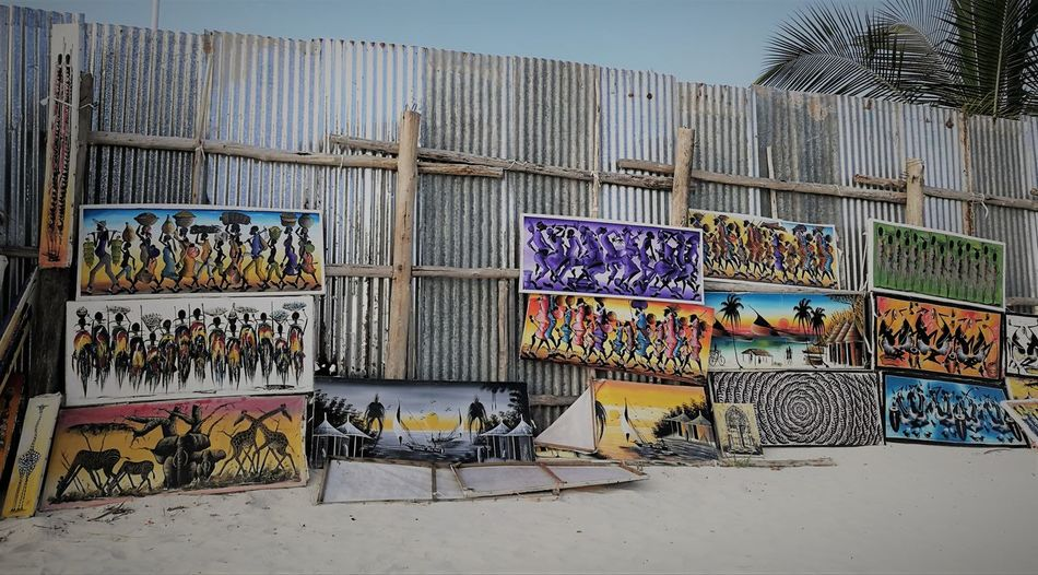 Africa Art Is Everywhere Art, Drawing, Creativity ArtWork Multi Colored No People Popular Art Souvenirs/Gift Shop