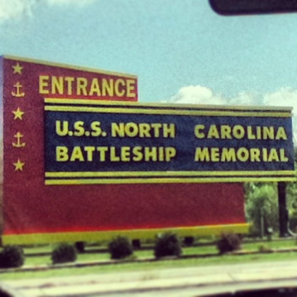 U.S.S. North Carolina Battleship Memorial Entrance. Ussnorthcarolina Battleship Memorial Entrance northcarolina nearwilmington carride onthewayhome itouch camera marsh alligators red yellow blue green