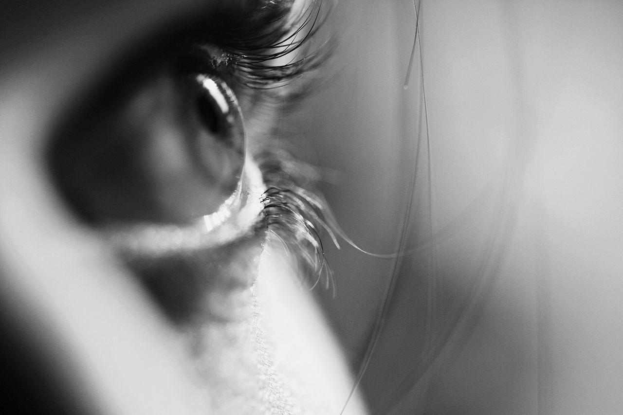 close-up human body part people human eye women eyesight eye eyes are soul reflection Soul Macro Photography macro black and white EyeEmNewHere