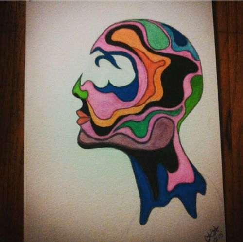 Multi Colored Close-up Watercolor Watercolor Painting Human Head HEAD Psychological Art ArtWork Art, Drawing, Creativity Art Gallery Artists Colorful Face Human Creativity Create Art Looks Cool Headshot Painting Paint Drawing