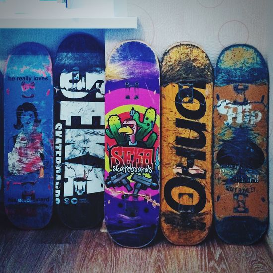 Multi Colored Art Creativity Collection Skate Skateboarding