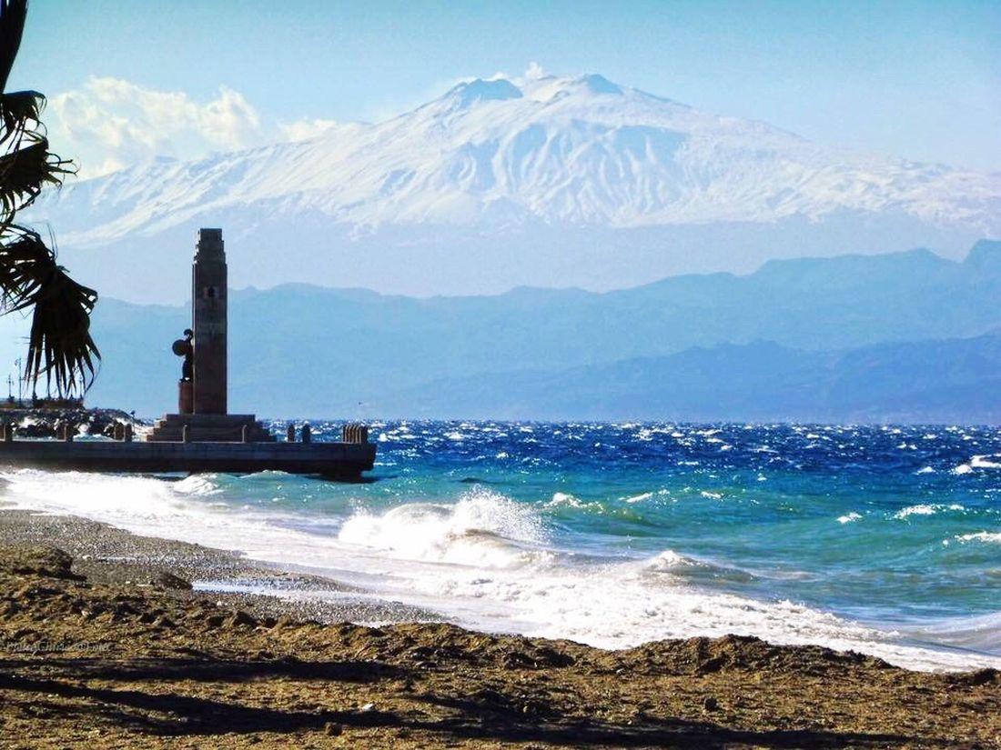 Etna Etna, Mountain, Sicily, Etna; Volcan; SIcily, Catania, Sea Mountain Water Sky Blusea Jenuary Beatiful Nature