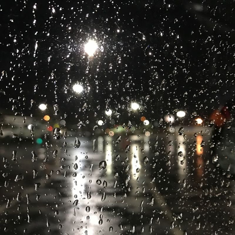 Adapted To The City Nature Wet RainDrop Water Rainy Season Window Monsoon Night Rain City Life Cityscape City Lights Cityraining