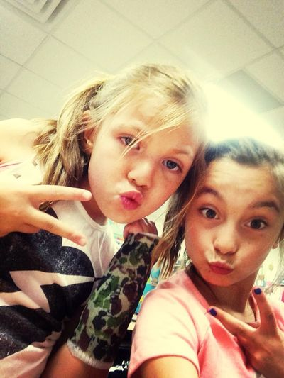Me and my friend Payton at school