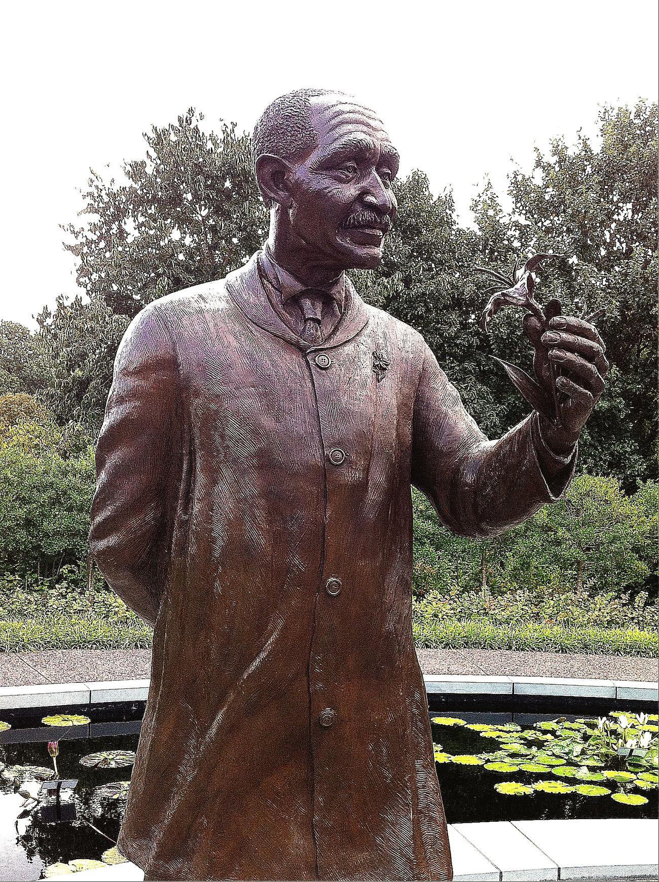 Secret Garden George Washington Carver statue in the Carver Garden in the Missouri Botanical Garden