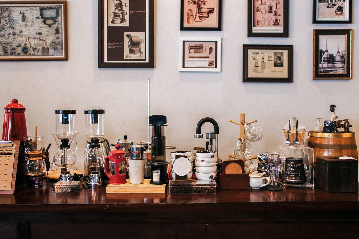 Coffee Maker Classic Coffee Maker Drip French Press Machine Mokapot No People Picture Frame Retro Roast Wood - Material