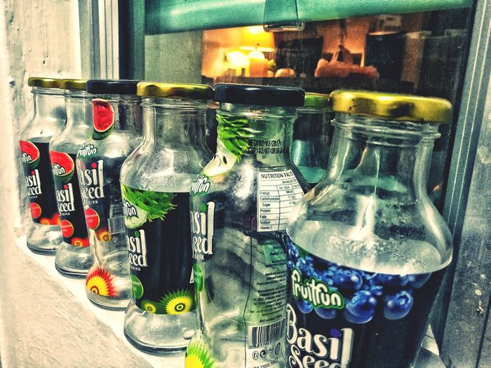 Glass Bottle Recycle Drink Collection Home Kitchen Basil Seed Drink Basil Sead