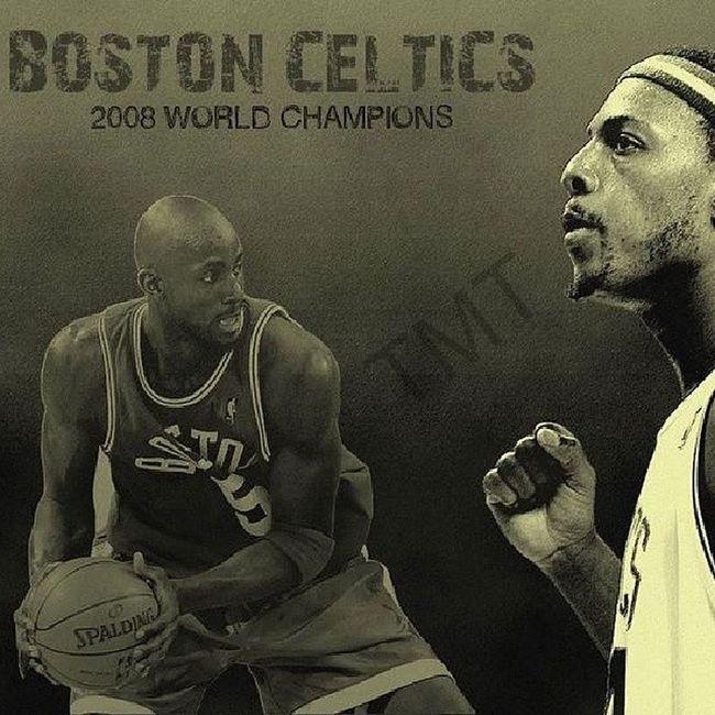 Those guys still Celtic and Bleed Green.. BostonCeltics PaulPierce Kevingarnett KG Thetruth return nba Basketball