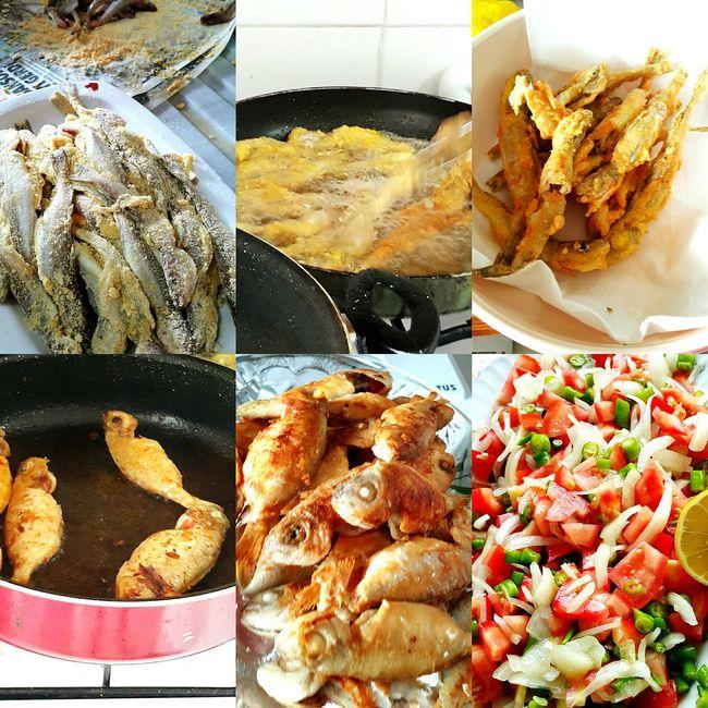 Homemade Food Food Porn Awards Fish Fries! Salad Turkis Food Balik Kizartma Salata Foodie 🐟🍴