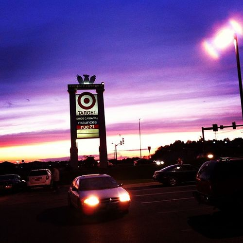 Love the view! SNS Work DriveThru Sunset Sky Clouds Targetsign Lovetheview