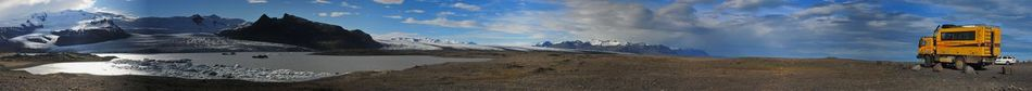 Blue Sea Desert Iceland Lake View Landscape Long Vehicle Panorama Tatra 815 Tatrabus The Drive