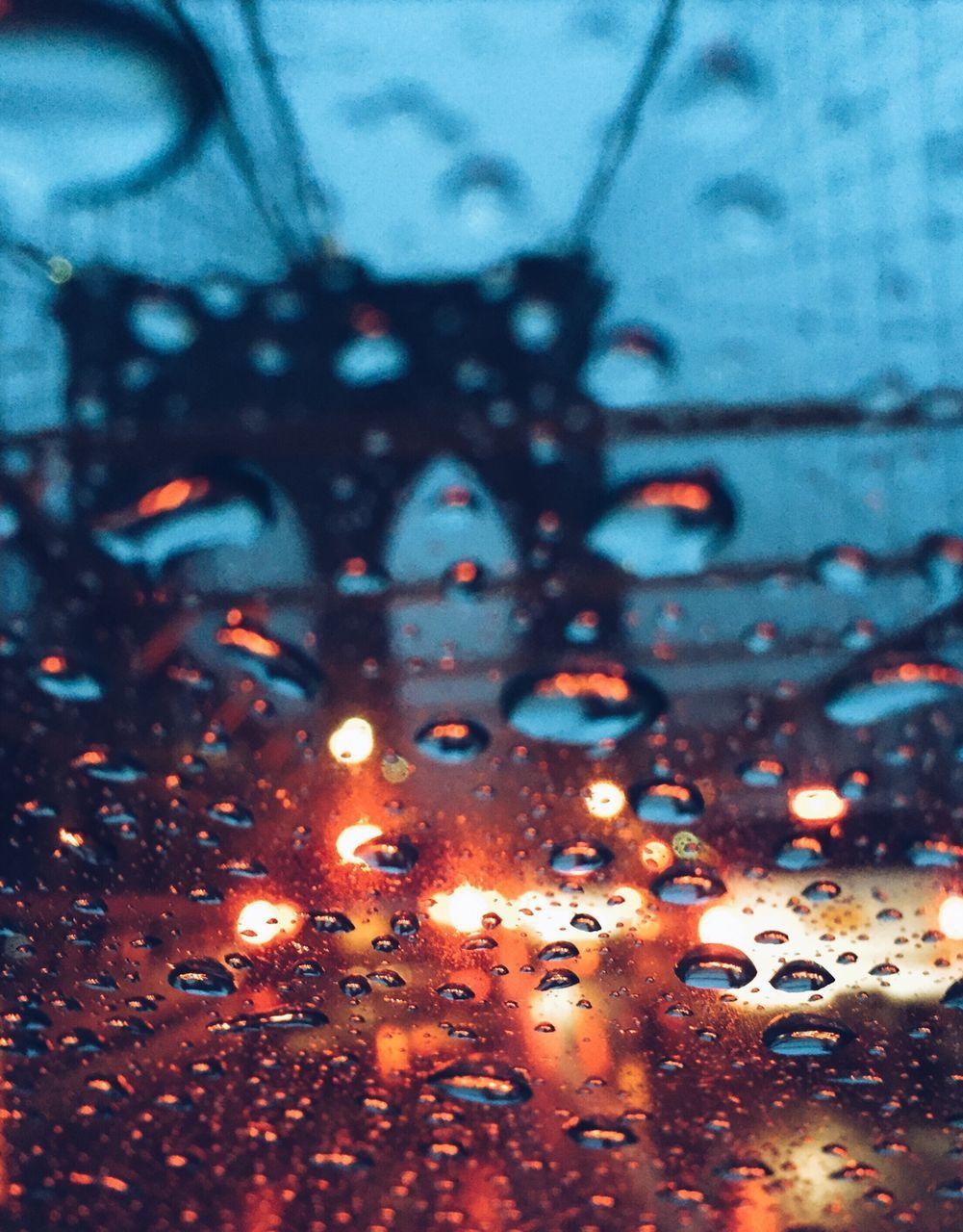 Brooklyn Bridge Seen Through Wet Glass Window