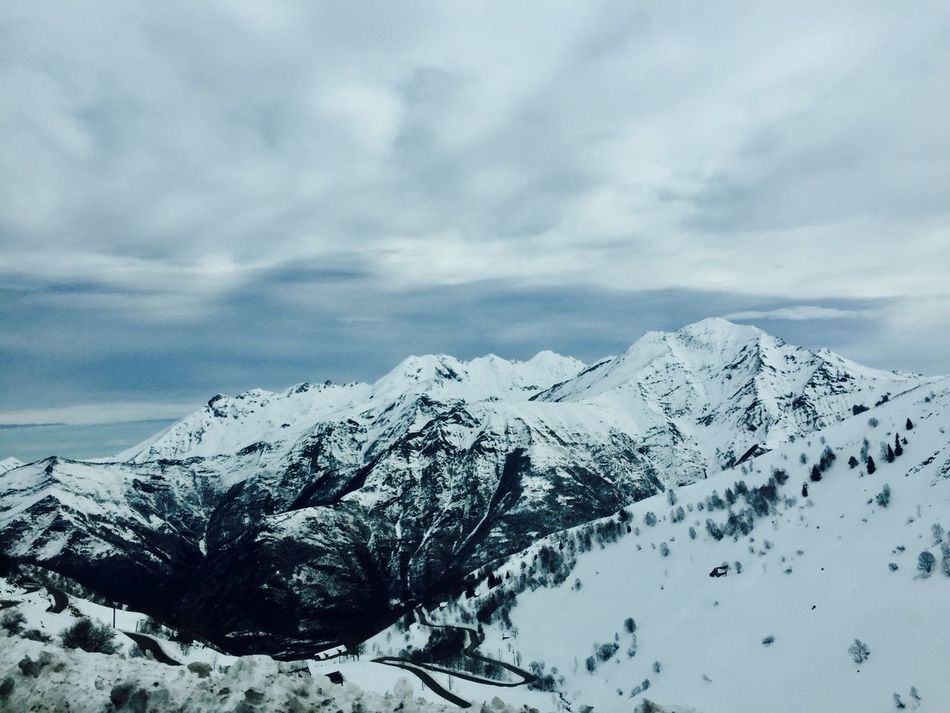 Snow Winter Cold Temperature Nature Weather Mountain Sky Tranquility Scenics Tranquil Scene Beauty In Nature Outdoors No People Day French Pyrénées Pyrenees Landscape French Pyrénnées Luz Mountains Montains    Beauty In Nature Nature Nature Photography