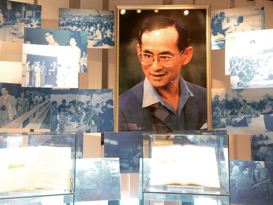 Always on my mind One Man Only Reflection One Person Indoors  Smiling The King King Of Thailand King Bhumibol Adulyadej Public Figure Exhibition Photograph Display Chiangrai Thailand Hall Of Inspiration Mae Fah Luang Royal Royal Residence In Memoriam Love