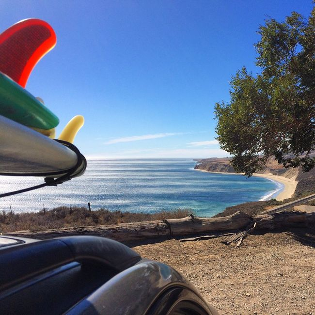 Stoked. Nature Goleta California Outdoors Ocean View Ocean Gaviotacoast Pacific Ocean Surfing Beach