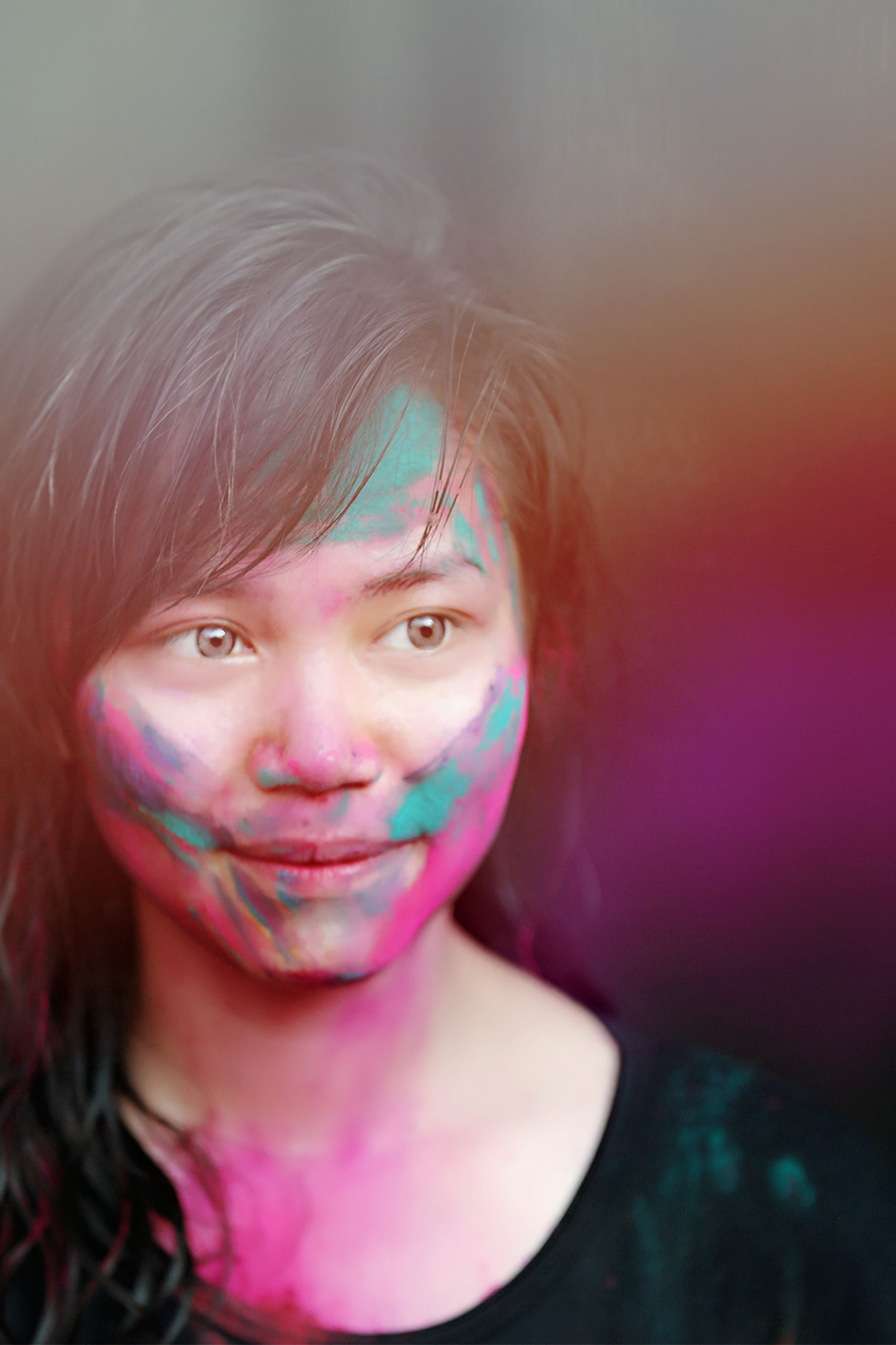At Holi party! Portrait Leisure Activity Happiness