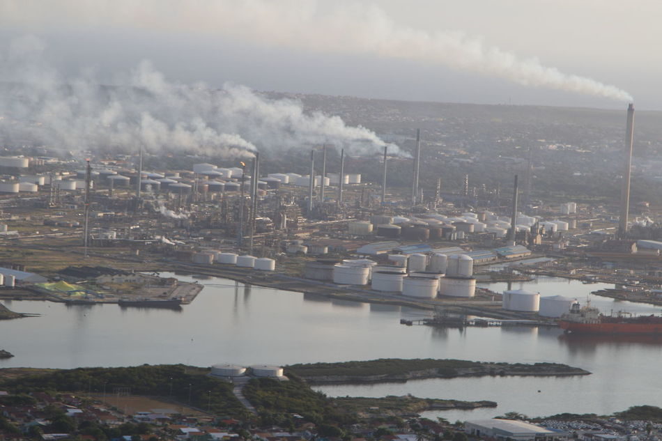 Aerial View Air Pollution City Cityscape Climate Change Day Environment Environmental Issues Industrial Building  Industry No People Outdoors Refinery Social Issues