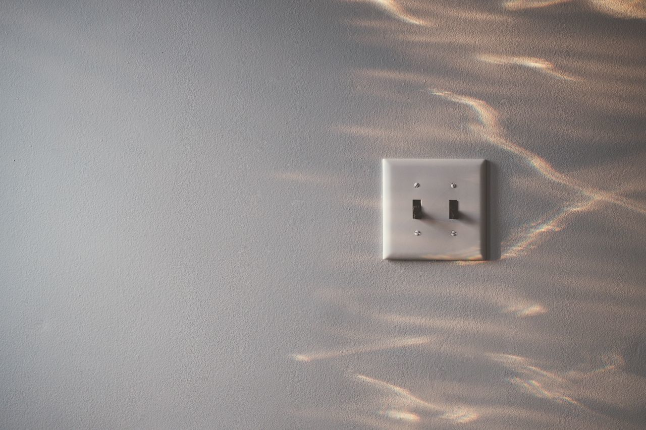 Light on the wall Close-up Day Indoors  Light Prism, Light Switch No People Prism Rainbow Silhouette Simple Beauty Wall Lieblingsteil Premium Collection Premium
