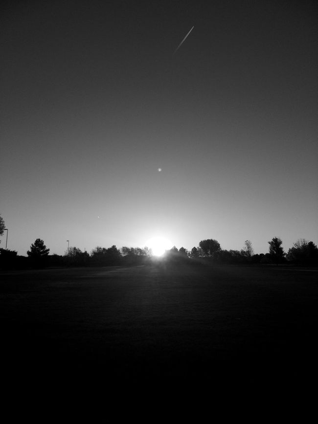 Morning In Mourning Morning Sunbeam Sunrise Macabre Fine Art Photography Flying Away Airplane Silhouette Vacations Going HomeArtistic Blackandwhite Warhol Inspired Black And White Darkness And Light Dawn Tree Line Silhouette Sunrise_Collection Atmospheric Mood Dawn To Dusk Shapes And Lines Morning In Mourning