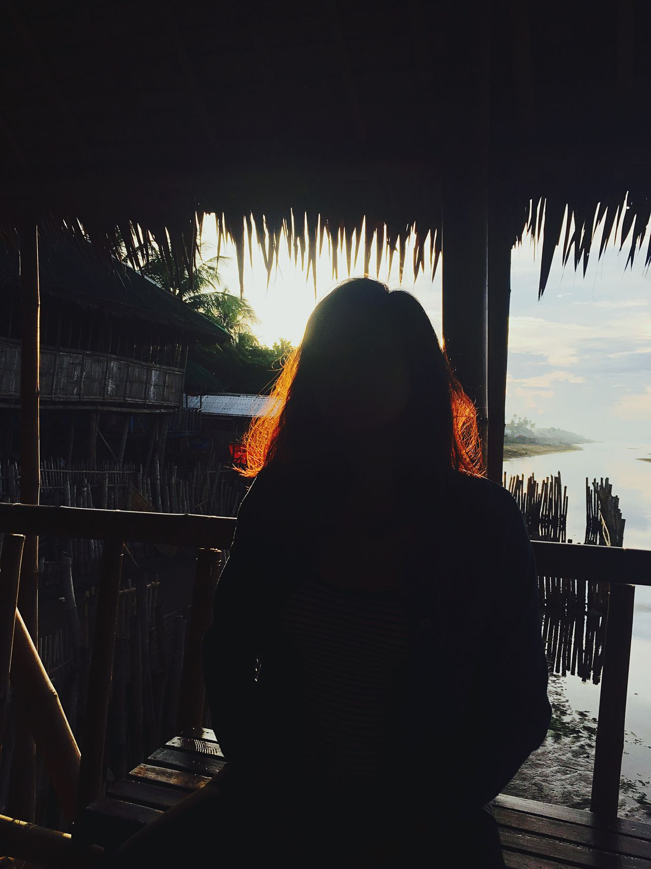 Silhouette of a woman. Symbolism Red Hair Stolen Shot Mane Of Fire Person Scenic View Dark People