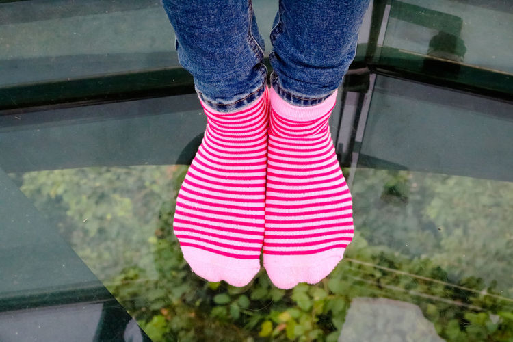 Adult Adults Only Close-up Day Glass5 Human Body Part Human Leg Leg Low Section One Person One Woman Only Only Women Outdoors People Pink Color Red Socks Water Women