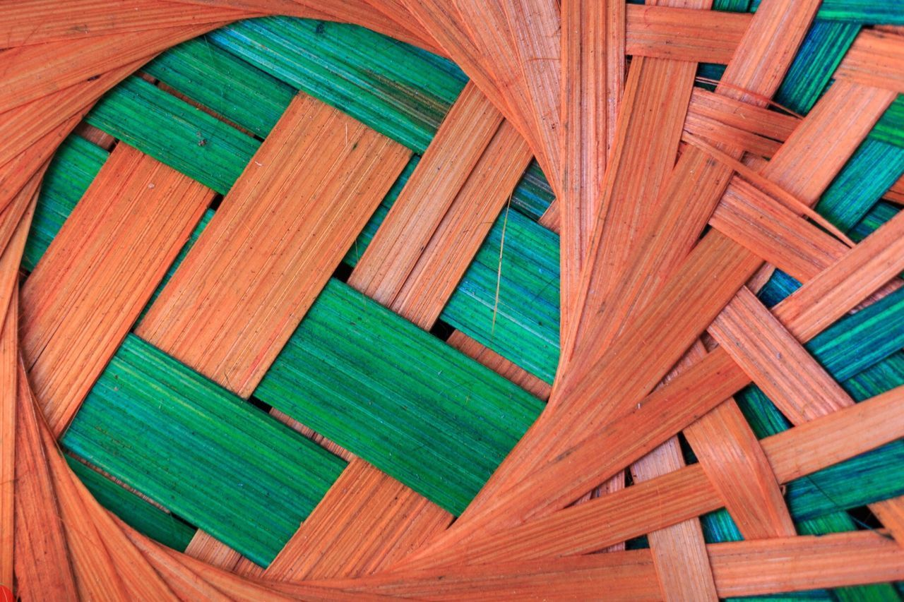 Bamboo Art. Pune, India. Backgrounds Wood - Material Multi Colored Green Color Close-up Full Frame No People Day Beautifully Organized
