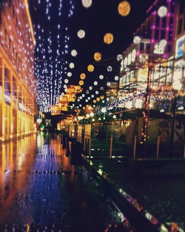 площадь Днепропетровск Ночь Дождь
