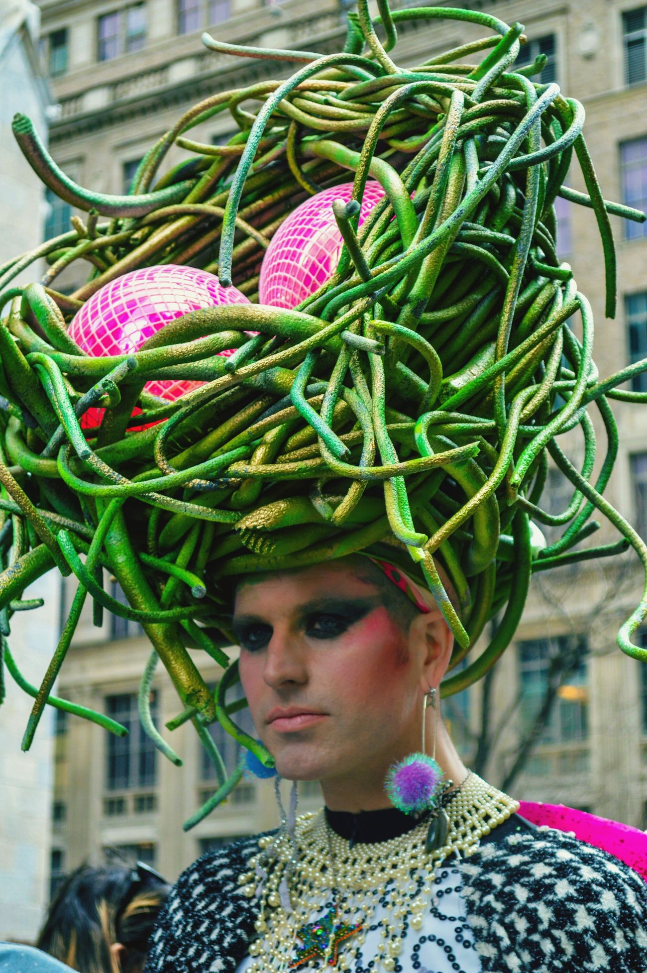 Big Hat Eggs Green Person Parade Costume Transgender Creative The Fashionist - 2015 EyeEm Awards