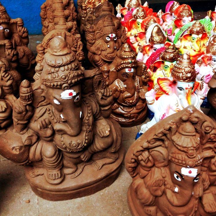 Naturalvsartifical GaneshChaturthi Ganesha Ecofriendly Statue Ganesha Idols Ganeshchaturthispecial Ganesha Lord Of Success Festival Season Festival Festivalsofindia Naturalvsartifical Devotional Devotion Devotional Handmade Tagliatella Devotional Time With God