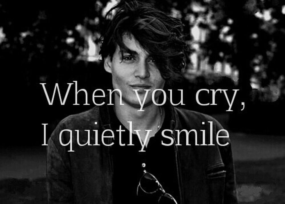 Johnnydepp Johnny Deep Boy Boyfriend❤ Boys Love Words Phrases Phr Phrase Smile Smile ✌ Cry Crybaby Cry Baby 21 Jump Street 21 Jump Street ❤ 21jumpstreet Johnny Depp Quotes Quotes♡ Beautiful Dark Darkness And Light First Eyeem Photo