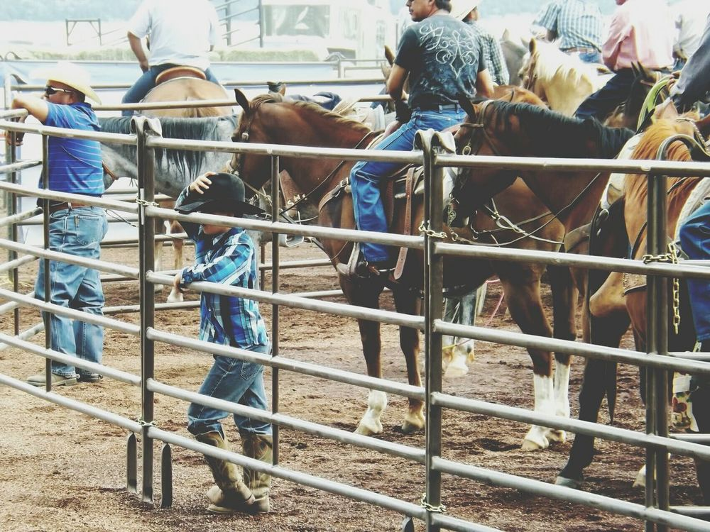 Rodeo Young Cowboy Adorable Corral