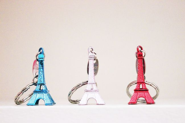 Small But Standing Tall Blue White And Red Close-up Eiffel France French Flag Key Chain Multi Colored Prayforparis Red White And Blue TakeoverContrast People And Places Architecture