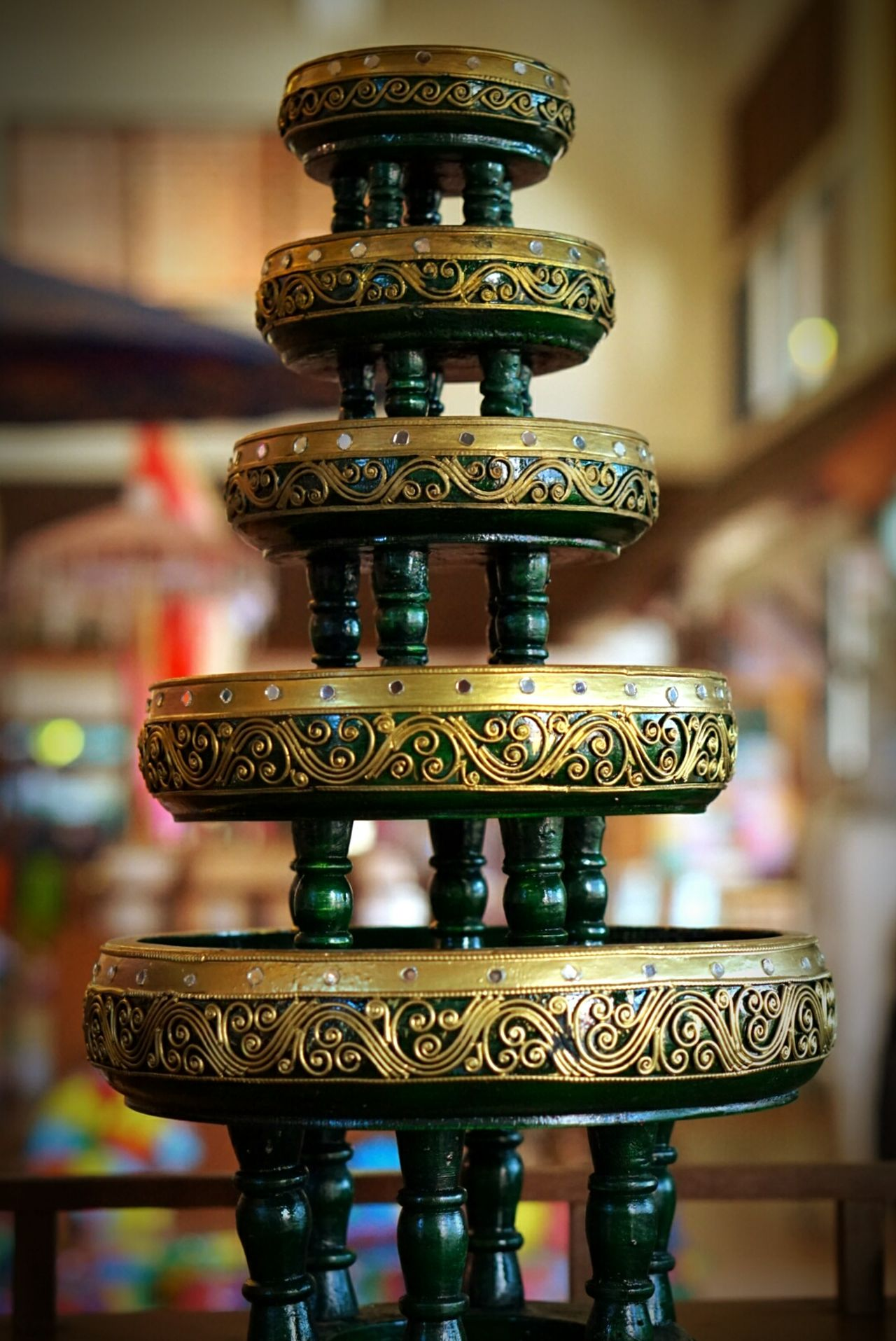 Craft Receptacle Ware Thai Craft Stack Thailand