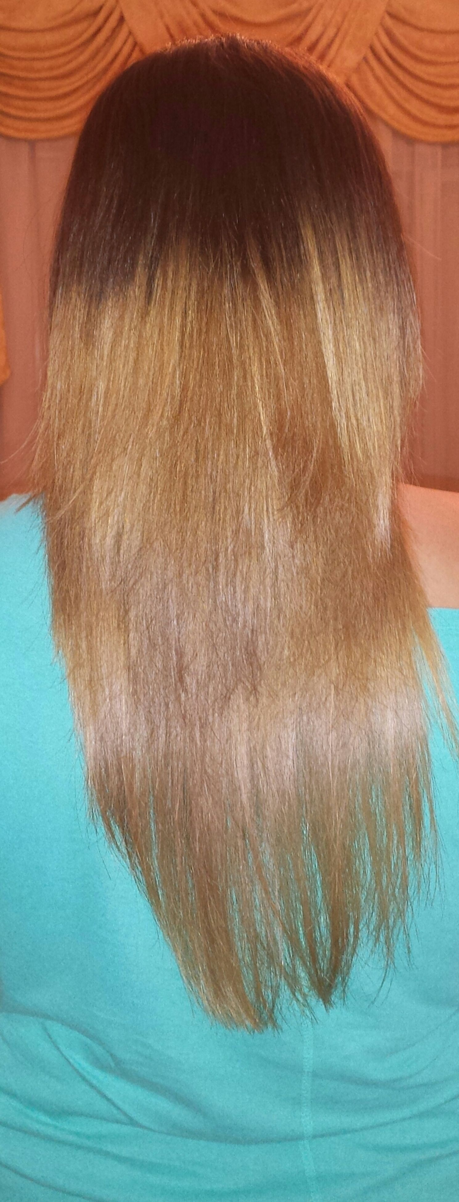 indoors, long hair, lifestyles, headshot, young women, leisure activity, blond hair, person, human hair, close-up, young adult, brown hair, rear view, girls, casual clothing, black hair, childhood