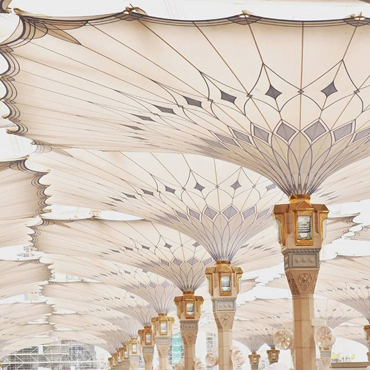 The canopy... Architecture Mosque Canopy Famousarchitecture Islamic Famousbuilding Historicalplace Travel Pilgrims Muslimworld Muhammadsaw Famouscanopy Masyaallah Q Holycity Saudi Arabia Perspective ProphetMuhammad IslamIsPeace