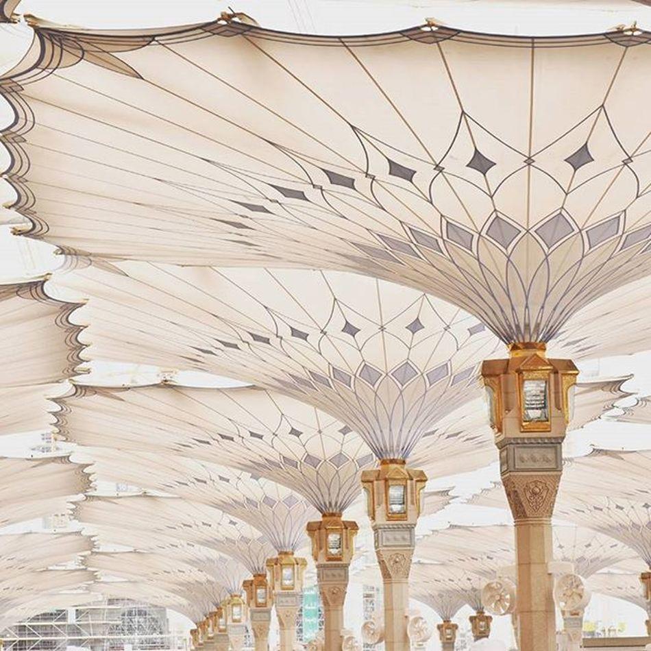 The canopy... Architecture Mosque Canopy Famousarchitecture Islamic Famousbuilding Historicalplace Travel Pilgrims Muslimworld Muhammadsaw Famouscanopy Masyaallah Q Holycity Saudi Arabia Perspective ProphetMuhammad IslamIsPeace