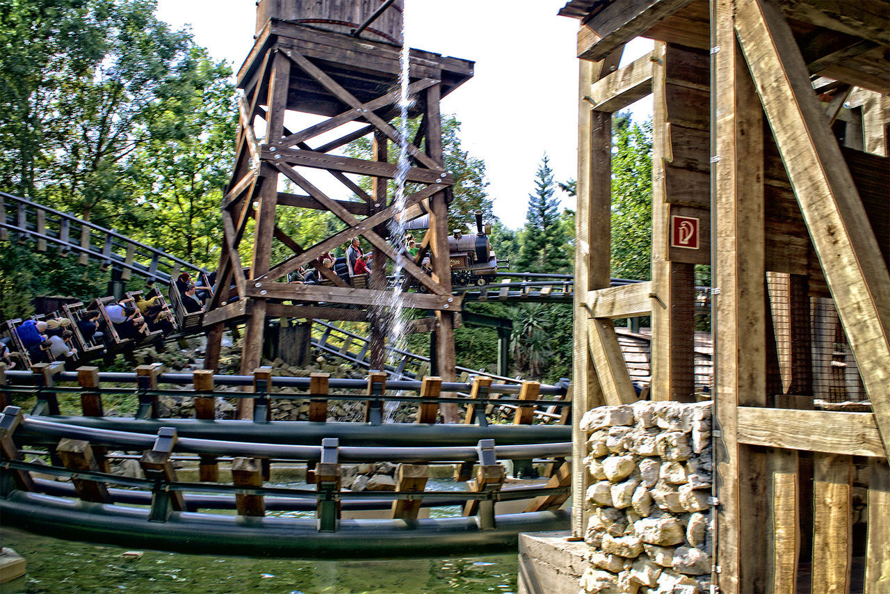 Amusementpark Architecture Bridge - Man Made Structure Built Structure Construction Frame Day Freizeitpark HDR Large Group Of Objects Outdoors Phantasialand Pretpark Railing Sky Structure
