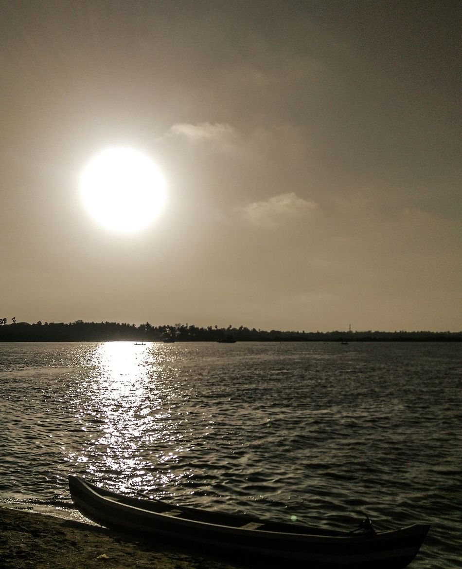 Sunset Boat Beach Sun Evening Silhuette Sea Water Sky And Beach Ocean Peace