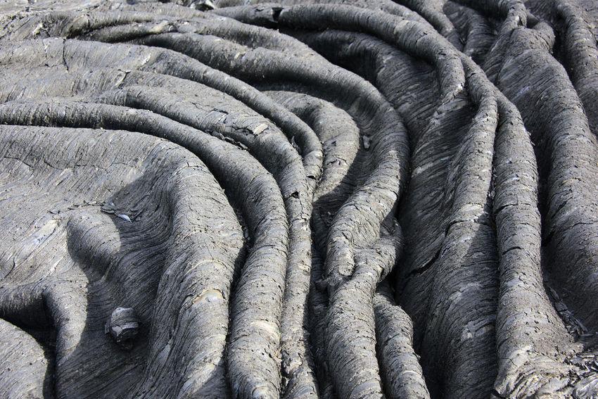 Waves of the clinker (frozen lava) Far East Kamchatka Landscape Rock Rock Formation Russia Texture