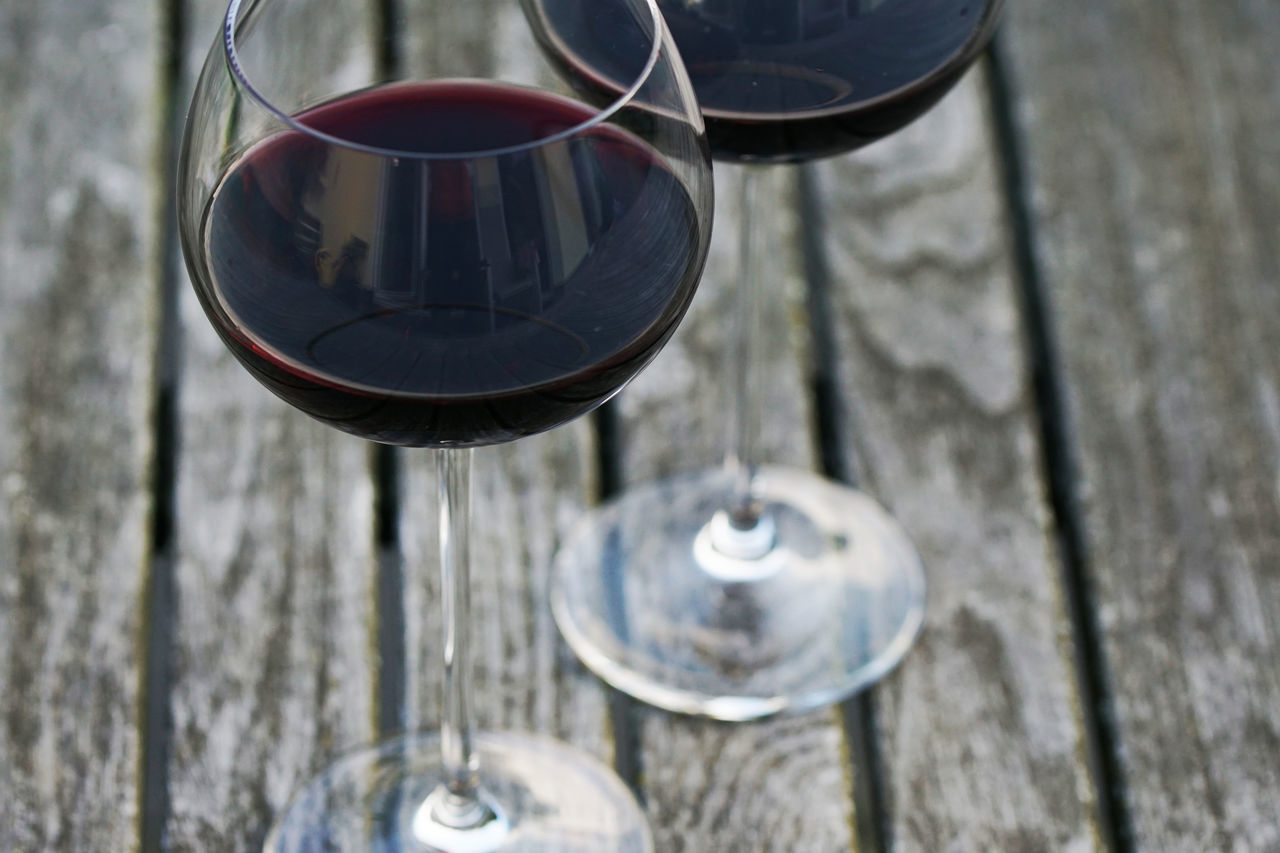 A glass of wine with you! Alcohol Alcoholic Drink Beverage Dinner Drink Enjoy Enjoying Life Food Garden Photography Glass Glass Of Wine Outside Party Red Wine Summer Summertime Table Togetherness Two Glasses Wine Wood Wood - Material
