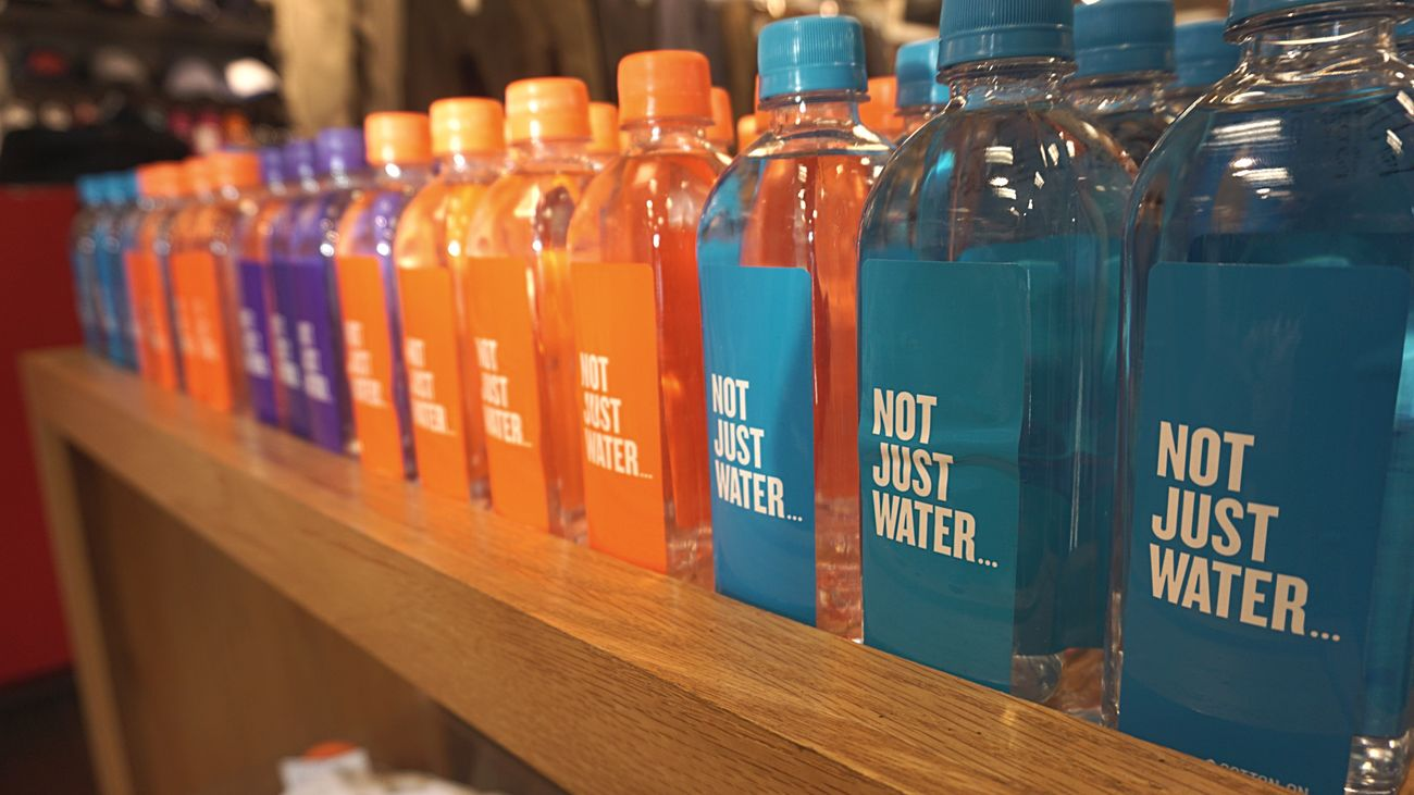 Water Water Bottle  Colors Cotton On Not Just Water Bottle Shelf Drink Indoors  No People Close-up