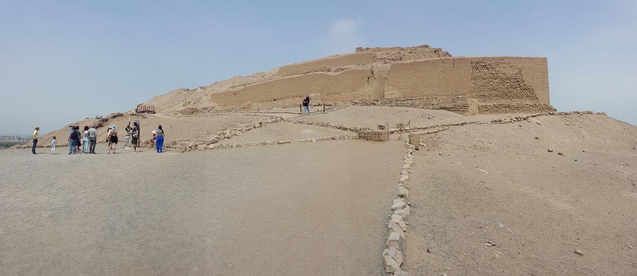 Ancient Ancient Civilization Old Ruin Sand Desert Hill Mountain Desert Temple Architecture Landscape Travel Destinations Pachacamac Lima,Perú