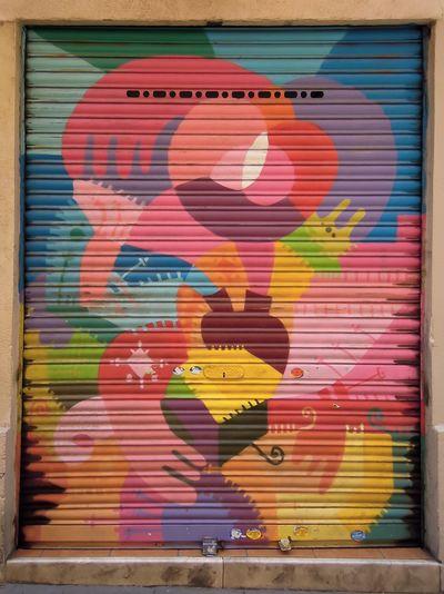 Abstract Art Multi Colors Pop Pattern Street Art Barcelona Graffiti Art