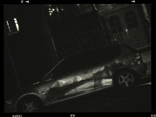 smashed car in Redfern by Carrie Chan