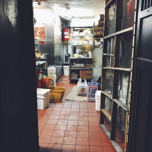 The empty kitchen. Kitchen Restaurant Behindthescenes